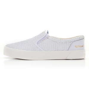 [UNISEX] FE SLIP ON / DRAGON SCALE LEATHER WHITE / F20059W