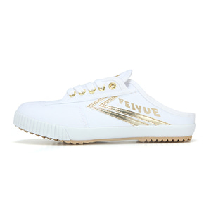 [FEIYUE]FE LO MULE/WHITE CANVAS GOLD/ FW100077