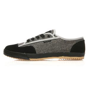 FE LO PLAIN II TARTAN WOOL SUEDE BLACK GREY / 00740412