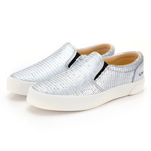FE SLIP ON LEATHER DRAGON SCALE SILVER / F20062W