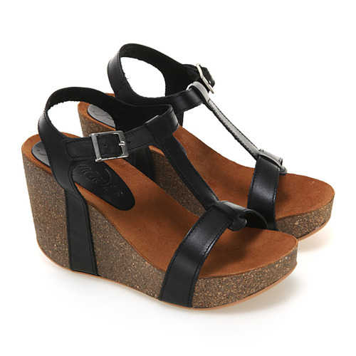 VAQUETILLA WEDGE BLACK / 668410-NEG