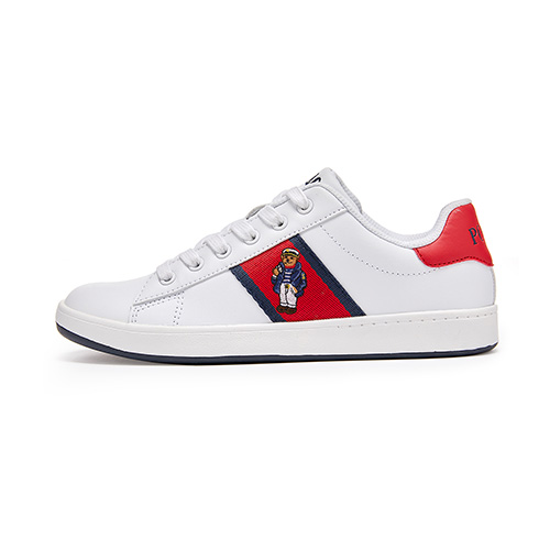 [JUNIOR] QUILTON BEAR / WHITE LEATHER/RED/NAVY STRIPING AND NAUTICAL BEAR / RF101637J